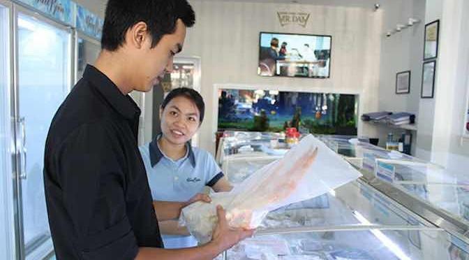 Cá, tôm xuất khẩu vào siêu thị nội địa